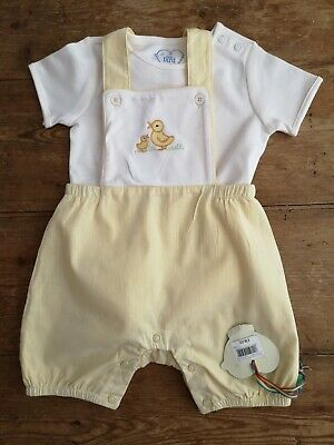 Little Bird Jools Mothercare Boys Girls Summer Duck Romper Bnwt 6-9 Months