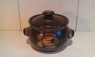 Vintage DENBY Bakewell - Small Soup Bowl with Lid / Small Casserole Pot