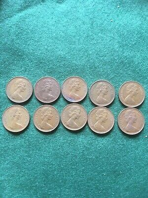 Elizabeth II New Pence1p One Pence Coins Circulated Set