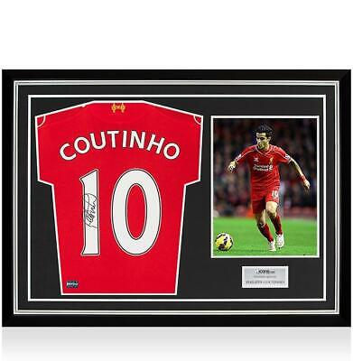 e5b0230ad Philippe Coutinho Back Signed Liverpool 2014-15 Home Shirt In Hero Frame   Option