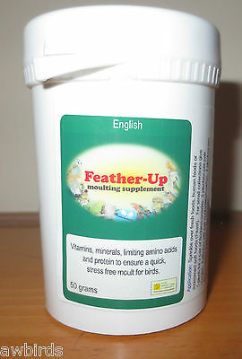 FEATHER-UP 50g - MOULTING SUPPLEMENT - Birdcare Co.