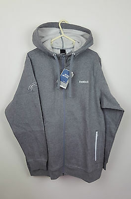 Vtg Athletic Sports Mens Grey Full Gym Reebok Tracksuit Jacket & Bottoms Uk M