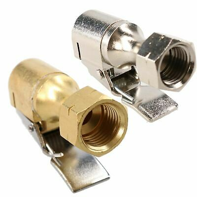 """PCL Euro Clip On Tyre Valve Connector Open & Closed End 1/4"""" BSP Thread"""