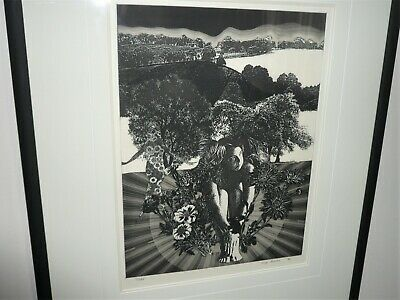VINTAGE LARGE ETCHING BY GREG HOWDEN  c1986 LTD EDITION 7/285 VICTORIAN ARTIST