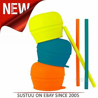 Boon SNUG Straw and Lid 3pk│Turns Your Cup Into a Sippy│Spill-Proof│Holds 9oz