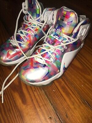brand new b1f1b 0ce1b Nike Lebron XII EXT Finish Your Breakfast Prism 748861 900 Sneakers 8 EU41  Shoes