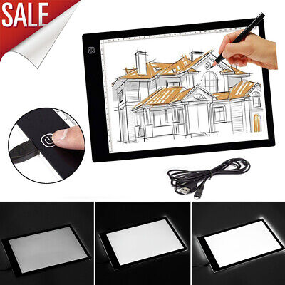 A3 A4 LED Drawing Board Ultra Slim Art Craft Drawing Copy Tracing Light Box Pad