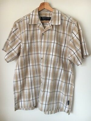 "Regatta Size 44"" Sand Check Cotton Short Sleeve Shirt <T13915"