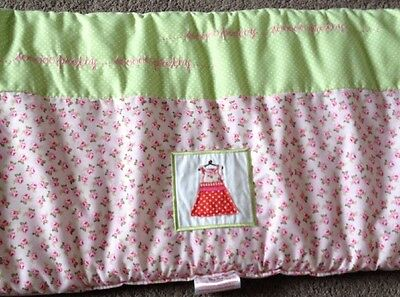 Silver Cross Cot Bumper Candy Pink With Green & Floral Pattern <R11800