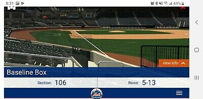 6/30/2019 Sunday Night Baseball Braves At Mets!! Great Seats! 7 Tickets!
