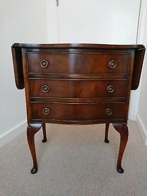 FLAME MAHOGANY DROP LEAF HALL LAMP SIDE TABLE  CHEST Excellent Condition