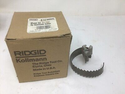 "NEW Ridgid 62925 T-111 Spiral Sawtooth Cutter, 3"" Drain Snake In Box 7/8"" Cable"