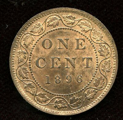 1896 Canada One Cent - MS62 Red Brown