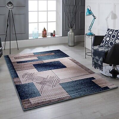 New Modern Thick Soft Quality Teal Beige Brown Floor Mat Rugs Long Hall Runners