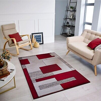 New Modern Thick Soft Quality Red  Beige Brown Floor Mat Rugs Long Hall Runners