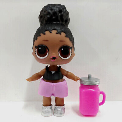 lol doll Big Sister Series 3-019 Black Hair DIY Pink Dress Kids Birthday Gift