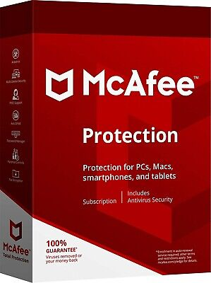 McAfee Protections 2020 Unlimited Devices  All (Renewal or New Subscription)