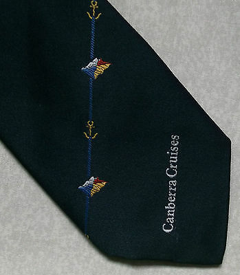Vintage Tie MENS Necktie Company Corporate Club Association CANBERRA CRUISES