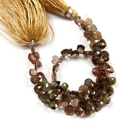 Natural Andalusite Gemstone Fine Faceted Fancy Shape Beads 8 inches Strand BL-60