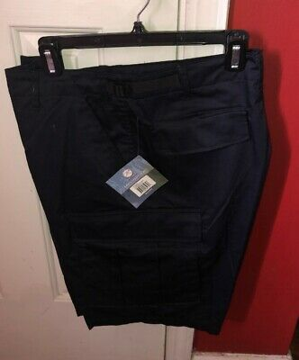 "Rothco BDU Combat Shorts NEW Med Navy Blue Button Fly Cargo 31""-35"" Waist NWT"