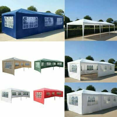 3x9M Waterproof Outdoor PE Garden Gazebo Canopy Wedding Party Exhibition Tent UK
