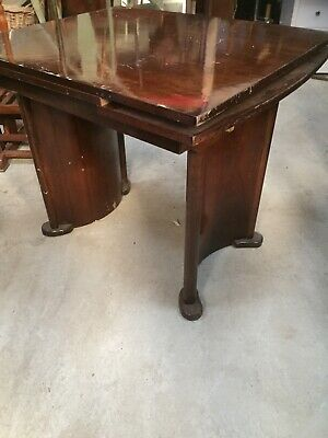 Art Deco Vintage Dining Table For Restoration High Gloss Extending    26/2/V