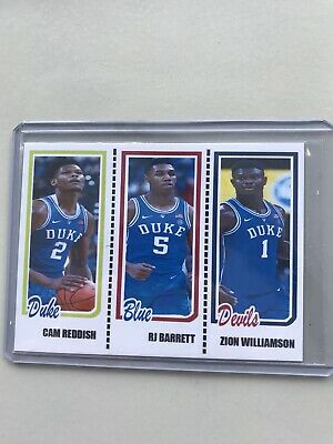 Zion Williamson/RJ Barrett/Cam Reddish DUKE Trading Card