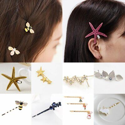 Fashion Starfish Hair Clip Hairpin Cute Jewelry Festival Accessories for Girls