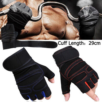 Anti Slip Weight Lifting Gym Half Finger Gloves Training Fitness Protect Wrist