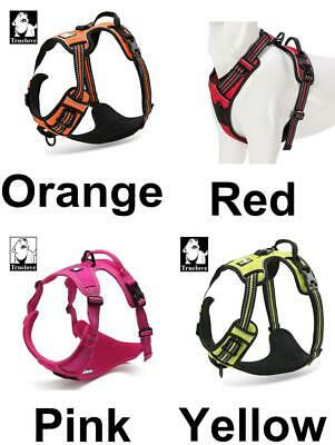 1pc Fabric Truelove Breathable Reflexive Neon Adjustable Safety Dog Harness, No-