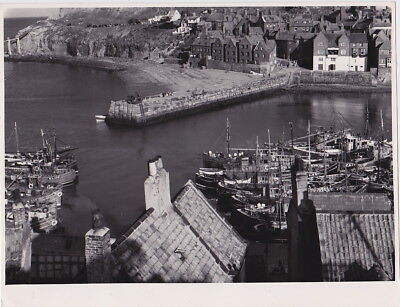 WHITBY North Yorks ENGLAND by G. DOUGLAS BOLTON * VINTAGE c.1950s STAMPED photo