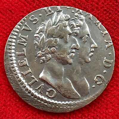William And Mary, Maundy Fourpence 4d, 1689. Off-Centre Mint Error.