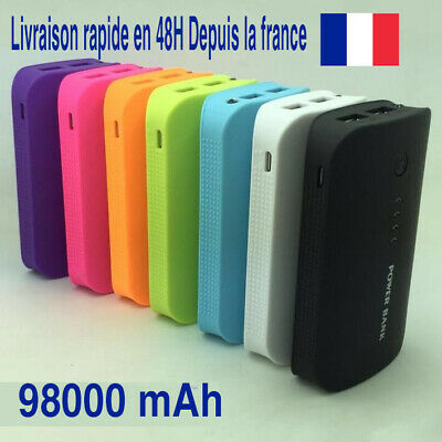 POWER BANK BATTERIE EXTERNE CHARGEUR RAPIDE 98000mAh 3 fiches IPHONE SAMSUNG