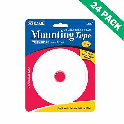 Foam Double Sided, Adhesive Double Sided Foam Mounting Tape Roll (24 Units)