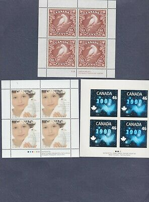 Canada Stamps Millennium Issue: Dove, Peace & Hologram Panes of 4 #1812-14 MNH
