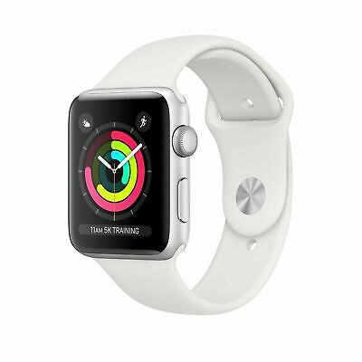 Apple Watch Series 3 38mm Aluminum Case w/ Sport Band - White (MTEY2LL/A) - New