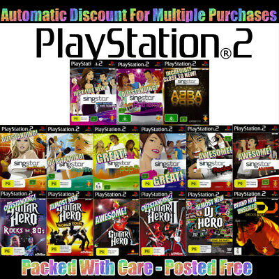 PS2 🎤🔹🎸 Your Choice of GENTLY PRE-OWNED MUSIC GAMES 🥁🔹🎧 09/11/19