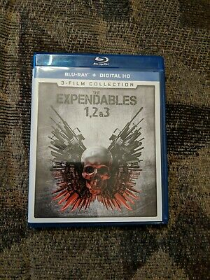 The Expendables: 3-Film Collection (Blu-ray Disc, 2017, 3-Disc Set) - No Digital