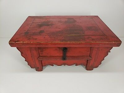 Pleasant Antique Monks Writing Table Painted Pine Mongolia Chinese Interior Design Ideas Ghosoteloinfo