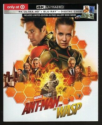 Antman And The Wasp 4K Ultra Hd / Bluray / Digital Target Gallery Book Brand New