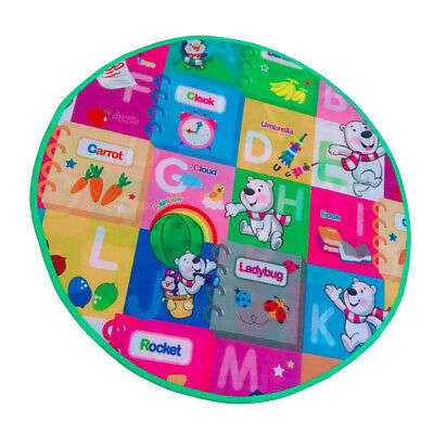 Double Sides Baby Crawling Tappeti Round Kids Play Mat per Princess Tent