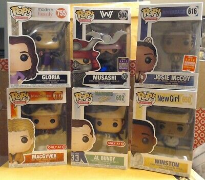 Funko Pop TV! Lot of 6 (w/Protectors) *Includes Target/Vaulted/Conv Exclusives*