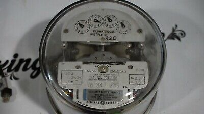 Ge Watthour Meter 3 Phase Vm-65-S Form 6S List D