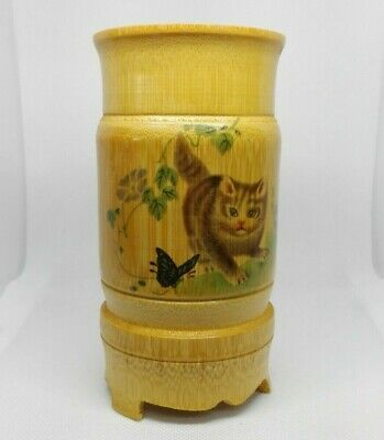 Bamboo Paint Brush Cup Stand Painting Bowl Collectors Rare READ DESCRIPTION