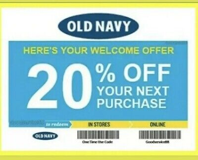 Old Navy 20% Off Online / In store (lNSTANT Delivery)