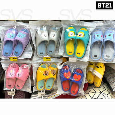 BTS BT21 Official Authentic Goods Mesh Slippers Free Size By Narahome Deco