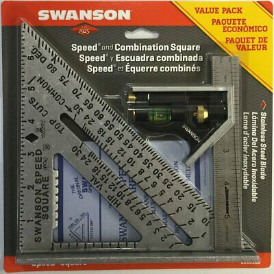 Swanson Tool S0101CB Speed Square Layout Tool with Blue Book and Combination Squ