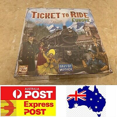 Ticket To Ride Europe Edition, Melbourne Stock, Express Post