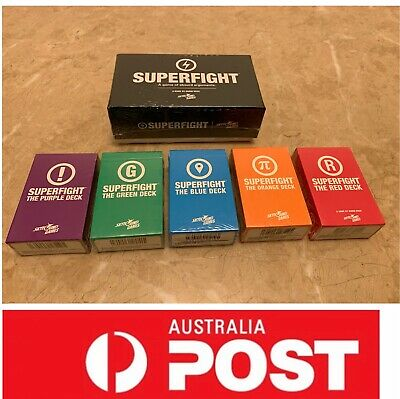 SUPERFIGHT Board Game, fantastic for parties, AU stock