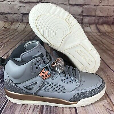 new arrivals bf5c7 a205f Nike Air Jordan Spizike Wolf Grey Dark Bronze GS Grade School 535712-018